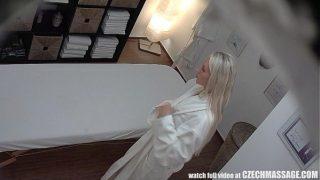 Beautiful Blonde Gets Oil Massage and Fuck as Bonus