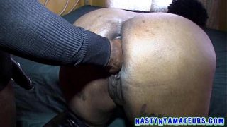 horny big ass ebony getting a huge bbc in her hot pussie