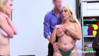 Mom And Daughter Caught Stealing And Fucked