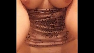 Pissing with my titties h. out