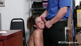 Sad MILF f. Fucked By Cop After Stealing