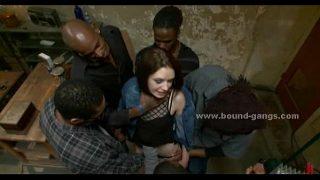 Slut visiting hood men in their den