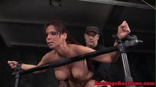 Submissive Syren De Mer spit roasted