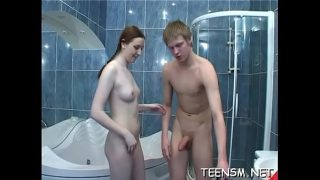 Teen beauty gets tough experience in shower