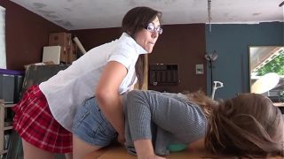 Tight Pussy Asian punished and spank her bare ass shows discipline to Shortest School girl Uniform Skirt Girl as she gets caught while playing cards cheating